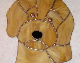 Goldendoodle Stained Glass Suncatcher