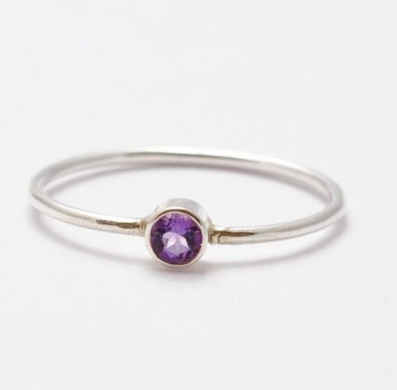 amethyst ring gemstone simple amethyst ring by
