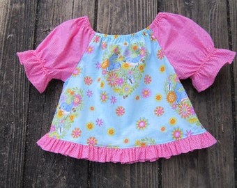 Girls Peasant Top Size 3
