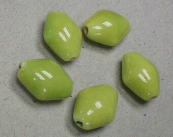 Beads Lime Diamond Glass