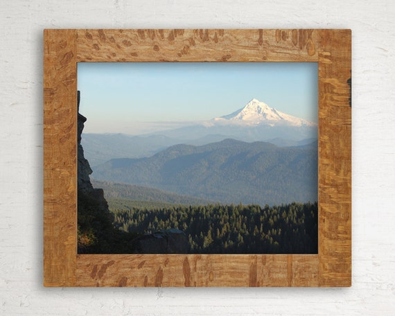 Reclaimed Wood Frame // 8 x 10 // Exotic Oak from Shipping Containers