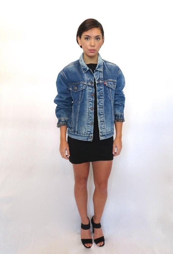 The levi s fleece lined denim jean jacket by rerunvintage on etsy