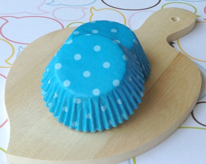 Blue/Blue Polka Dot Cupcake Liners