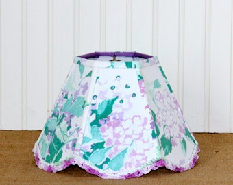 Floral Lamp Shade Lampshades Vintage Lavender