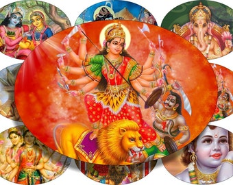 From India 2 images large oval for belt buckle and more digital collage sheet No.1149