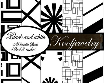 Black and White Paper Pack - No. 113