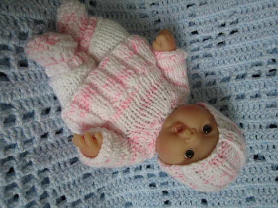 Knitted Doll Clothes for 8 inch Chubby Lots to Love Berenguer