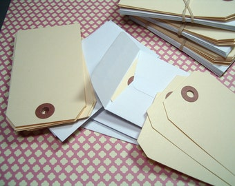Coin Envelopes - White set of (10) & (10) Manilla Shipping Tags for Journaling, Scrapbooks and Tag Books