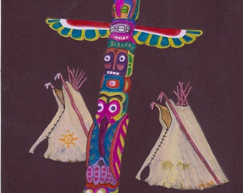 Teepees and Totem
