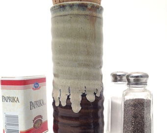 14 oz Tall Cork Jar in County Ware Collection