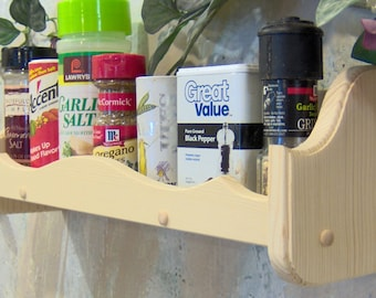 Unfinished 18 inches single spice rack for the kitchen