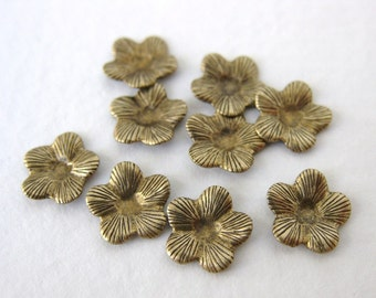 Antiqued Brass Ox Flower Stampings Finding 8mm stp0076 (12)
