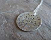 "RESERVED for SCUETO Reach for the Stars - Express yourself - Handstamped 1"" Sterling Silver Pendant Necklace"