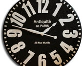 Large Wall Clock 36in Antique Style BOLD Paris Big Round Clocks family heirloom FREE INSCRIPTION