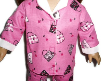Pink Going Shopping Pajamas PJs 18 inch Doll Clothes Fits American Girl Dolls