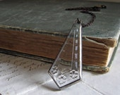 Stained Glass  Necklace Art Deco