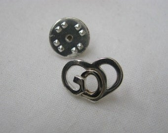 Silver & gold tone GOD tie tac or lapel pin brooch