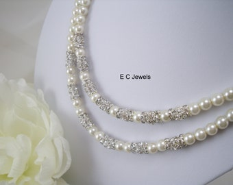 Double Stacked Elegance Bridal Necklace