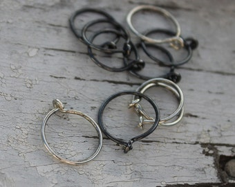 "Sterling Silver Hoop Earrings Item #400101 - ""Tiny Hoops"""