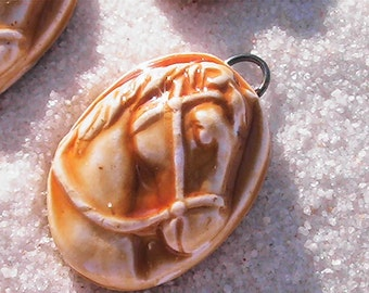 Clay horse pendants. Polymer Clay Horse Pendant.