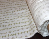 Organic, Cotton, Flannel, Curly Vines, Wholesale Price, Pay It Forward, Charity Donation, 54 inch width, 1 yard, FREE SHIPPING to US