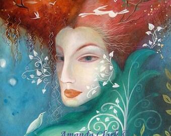 Tree Lady. An art print by Amanda Clark.