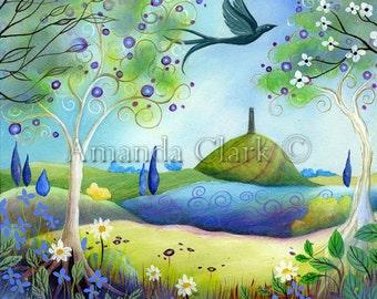 A fairytale  art print. Spring Light by Amanda Clark