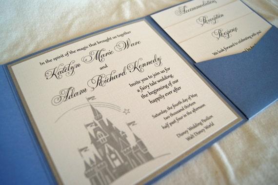 Fairytale Invitations Wedding: Fairytale Castle Pocketfold Wedding Invitation By SomerStudios