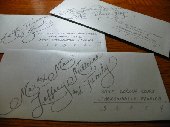 Custom Hand Penned Calligraphy Emily Font