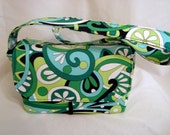 Super Size Coupon Organizer /Budget Organizer Holder Box - Attaches to Your Shopping Cart - Michael Miller Kelly Mod Swirls