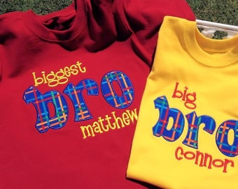 Big Biggest Brother Applique Shirt