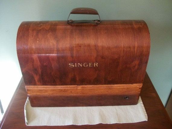 1934 Singer Bentwood sewing machine case - for Singer 99 - seductive and functional
