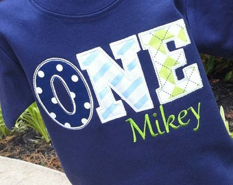 Boys ONE Birthday Shirt