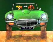 """179 E-type green – print 38x38cm/15x15"""""""