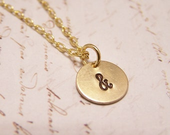 Ampersand Necklace. You and Me. US. And Symbol. Togetherness. Bride and Groom. Family. Friendship