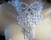 Lätzchen Halskette Hochzeit Spitzen