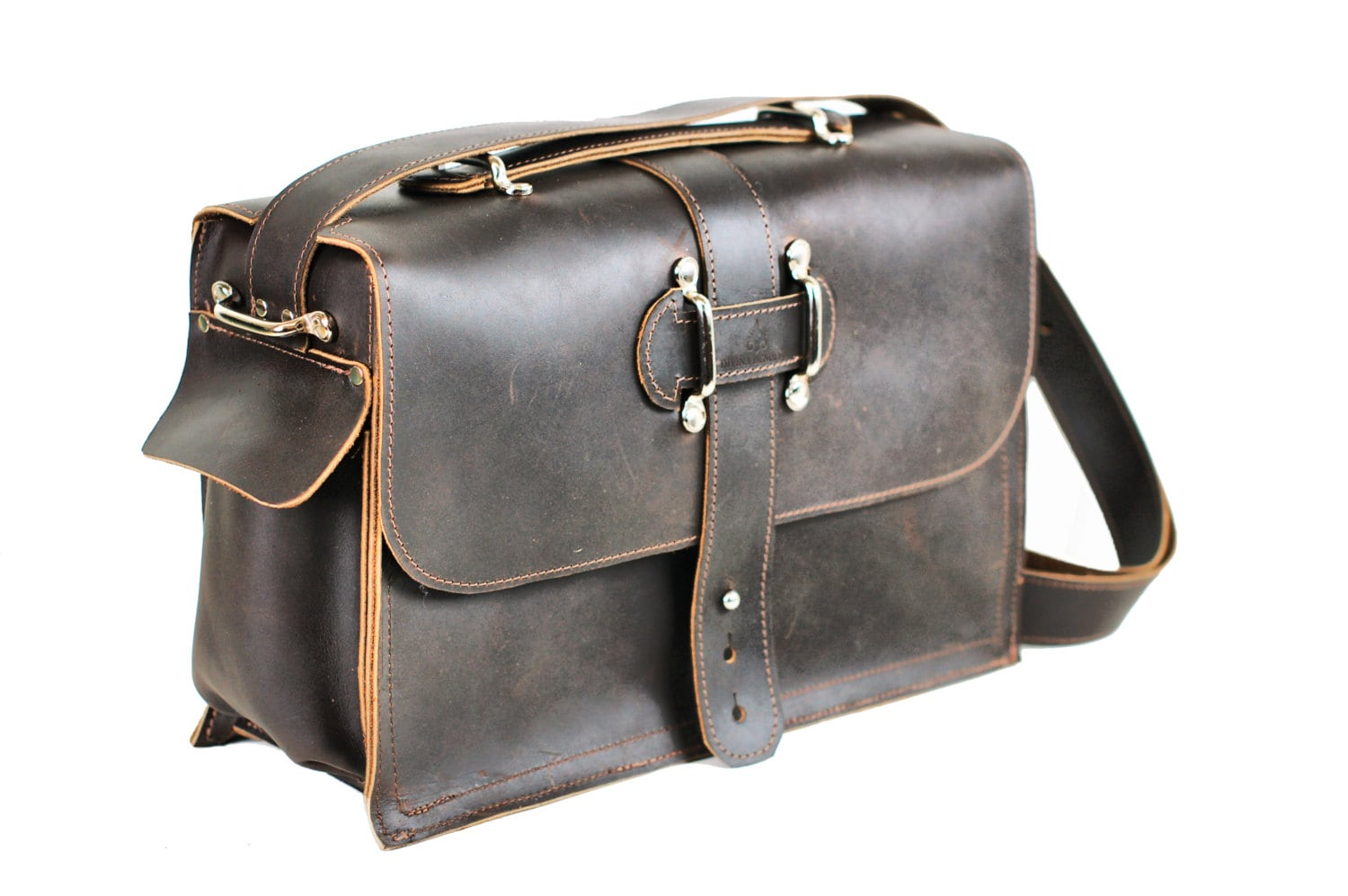 Men's Leather Satchel Leather Messenger Bag Leather