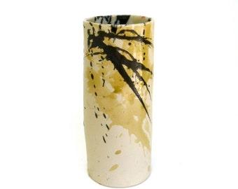 hand built abstract porcelain vessel