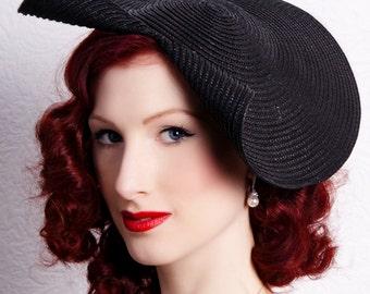 Summer sun hat - wide brimmed hat - 50s style sun hat - derby day hat - ladies day hat
