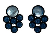 Galaxy perspex earrings blue Swarovski crystals
