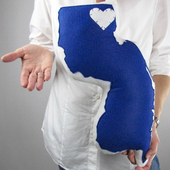 Customizable New Jersey State Pillow