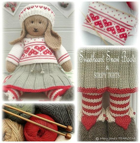 ANIKA Rabbit / Bunny Toy Knitting Pattern / Lapland Visitors Part 2/ Pdf / Plus Free Handmade Shoes Knitting Pattern/ INSTANT Download