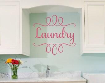 Laundry Wall Decal, Laundry Room Wall Decor, Laundry Vinyl Decal, Laundry Room Wall Art