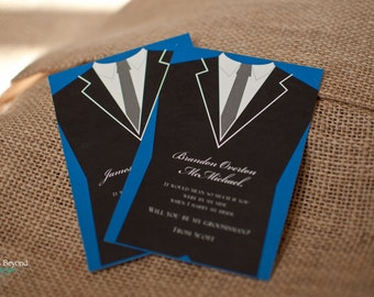 Will You Be My Groomsman Tuxedo Card - Small or Large Card with Envelope