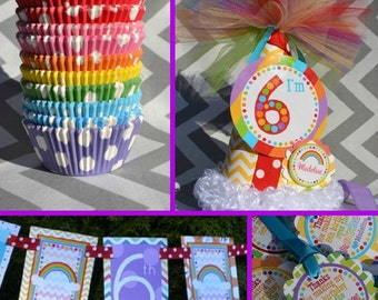 Rainbow Birthday Party Decorations Fully Assembled