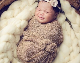Newborn Photography Stretch Wrap - CHOOSE From 17 Colors  READY To SHIP