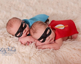Newborn Superhero Cape and Mask- TONS OF OPTIONS!!!