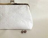 Bridal Clutch - Wedding Clutch -Ivory Bridal Clutch - Lace Clutch - Bridesmaids Clutch - Isabella