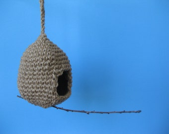 Egg Birdhouse Crochet Pattern