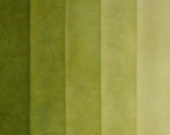 Hand Dyed Fabric Shades - Verde